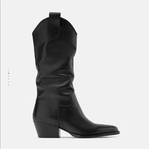 Zara Shoes - Zara heeled leather cowboy boots
